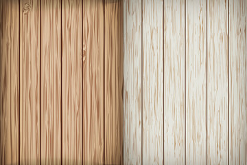 Two realistic wooden background. Vector