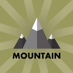 vector illustration. Logo mountain