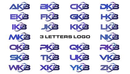 3 letters modern swoosh logo AKB, BKB, CKB, DKB, EKB, FKB, GKB, HKB, IKB, JKB, KKB, LKB, MKB, NKB, OKB, PKB, QKB, RKB, SKB, TKB, UKB, VKB, WKB, XKB, YKB, ZKB