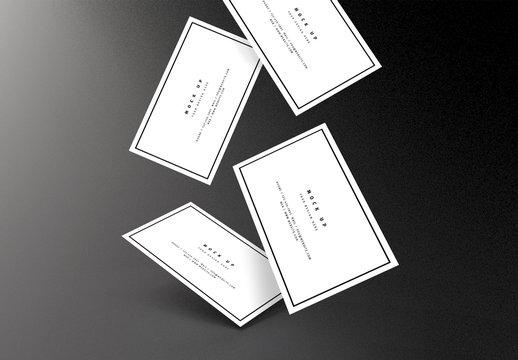 Multiple Business Card Mockups