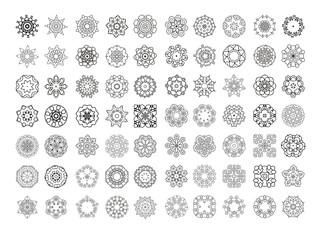 Circular monochrome pattern