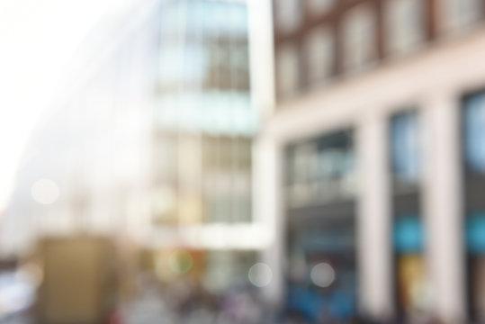 Blurred Modern Buildings with Vintage Filter