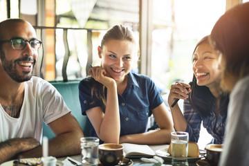 Coffee Shop Cafe Restaurant  Friendship Togetherness Concept
