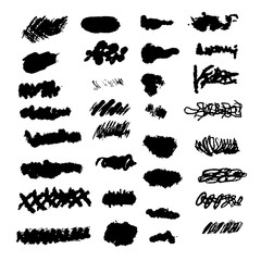Vector Set of Brush background