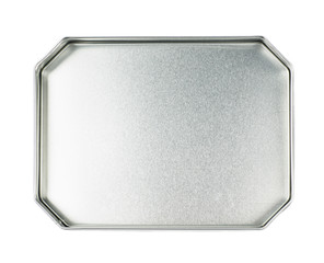 Octagonal metal box isolated