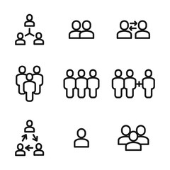 Group vector icons