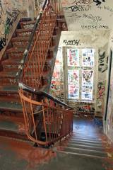 Berlin / Graffitis dans une cage d'escalier