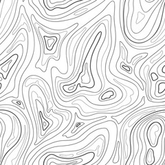 Contour topographic map background. Vector lines map pattern