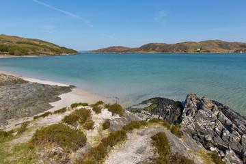 Morar bay Scotland UK beautiful coast destination located south of Mallaig