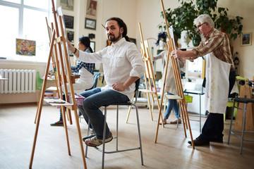 Artist Posing in Studio