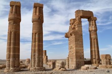 Die Tempelruinen von Soleb im Sudan
