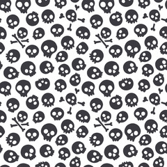 Seamless pattern with skulls. Vector illustration
