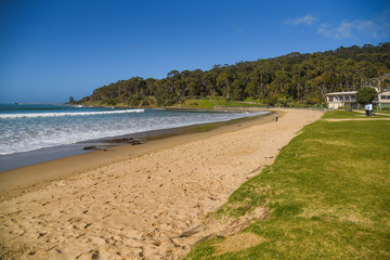 Beautiful beach and sea at Lorne beach
