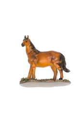 Horse,Children toy beautiful on white background.