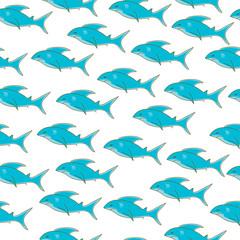 Shark seamless texture, shark pattern, shark wallpaper. Vector illustration