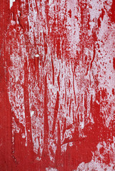Abstract red Grunge Background with Old Torn Posters