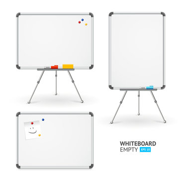 Whiteboard Set. Different View. Vector