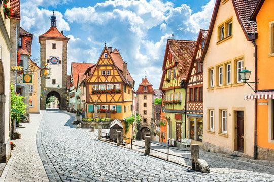 Medieval town of Rothenburg ob der Tauber, Bavaria, Germany