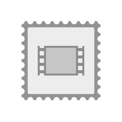 Isolated mail stamp icon with a film photogram