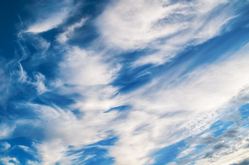 Sky background. Dramatic cloudy sky clouds - natural sky landscape