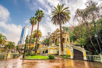 Cerro Santa Lucia in Downtown Santiago, Chile.