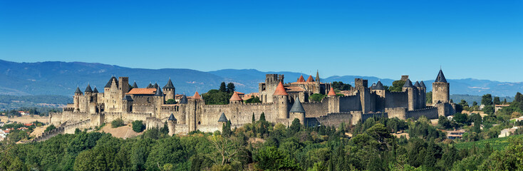unique french medieval Carcassonne fortress  added to the UNESCO list of World Heritage Sites
