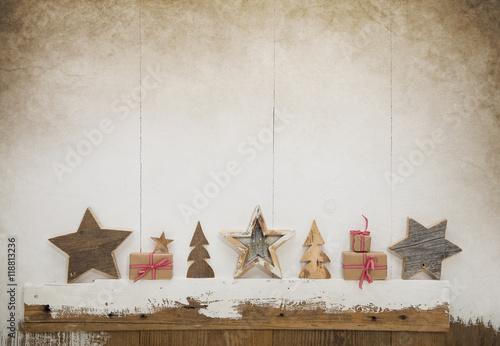 Vintage Bilder Weihnachten.Vintage Weihnachten Holz Hintergrund Mit Geschenke In Rot Weiß