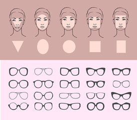 Woman face types and sunglasses