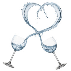 Fototapete - water shaped heart