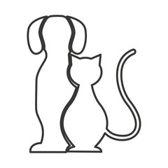 cute animal silhouette isolated icon