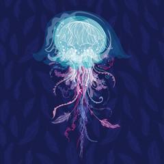 Magic Vector Jellyfish Illustration