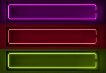 Neon Lower Thirds Set