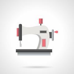 Hand sewing machine flat color vector icon