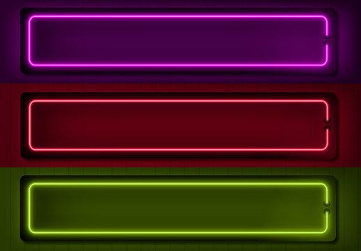 Neon Lower Thirds Set