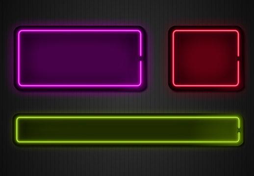 Neon Overlay Graphics