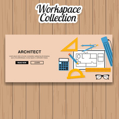 Architect Workspace Vector