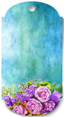 Floral frame Sale ,flowers, numeric. Watercolor price discount p