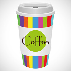 Vector Illustration Coffee 2 go
