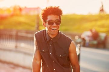 Fashion young male wearing sunglasses
