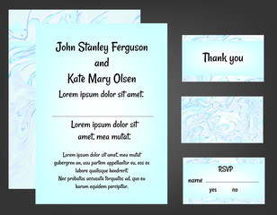 Mint wedding invitation set