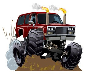 Cartoon Monster Truck. Available EPS-10 vector format with transparency effects for one-click repaint