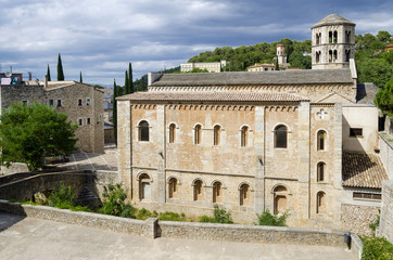 Monastery of Sant Pere de Galligants, Girona, Catalonia, Spain