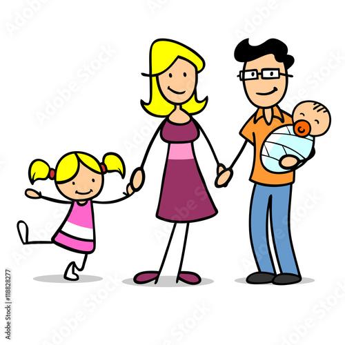 familie mit kind und baby imagens e fotos de stock. Black Bedroom Furniture Sets. Home Design Ideas