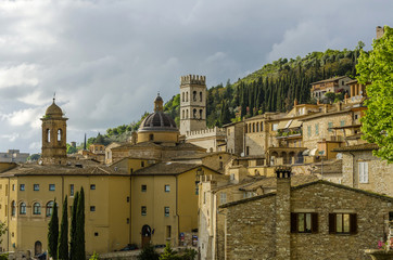 Assisi, Umbria, city view, Italy