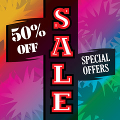 An exquisite colorful banner of sale from retailers.