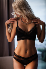 Black sexy lingerie