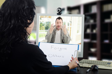 Online psychotherapy counseling session