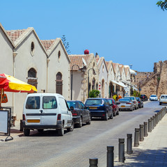 Typical old city houses, Famagusta, North Cyprus