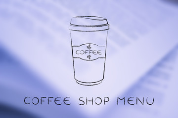 coffee tumbler chalk illustration