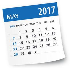 May 2017 calendar leaf - Illustration